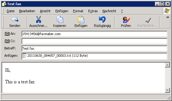 Aus Outlook Faxen