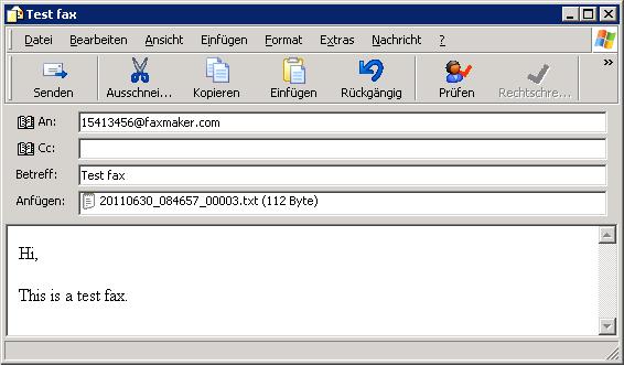 Fax Mit Outlook Versenden