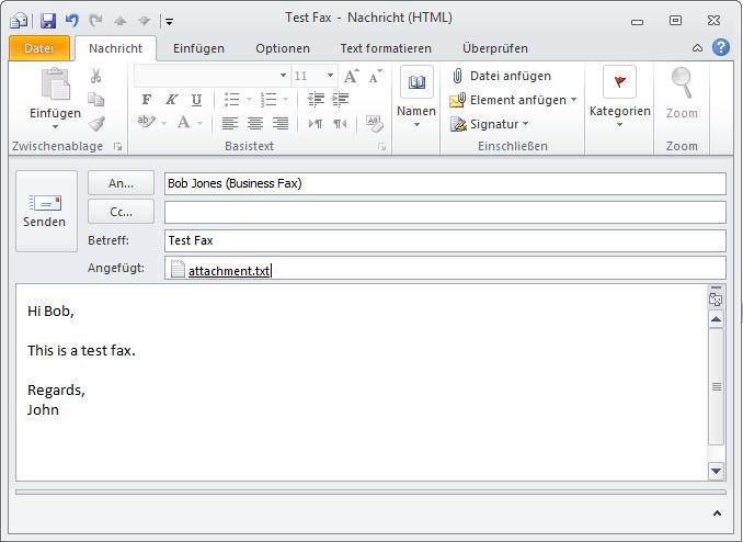 Email An Fax Senden