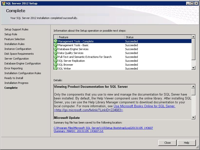 Create a new SQL Server Instance