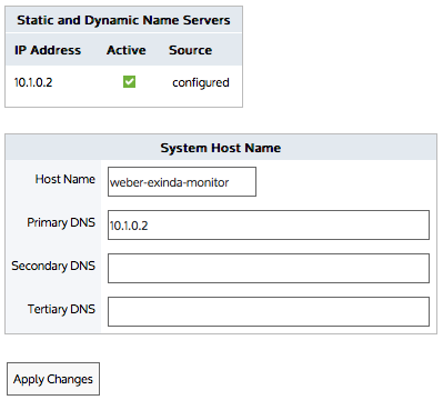 DNS and domain names configuration