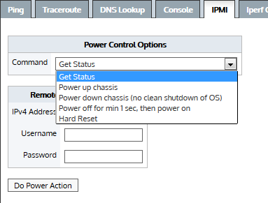 Query a remote IPMI Exinda appliance