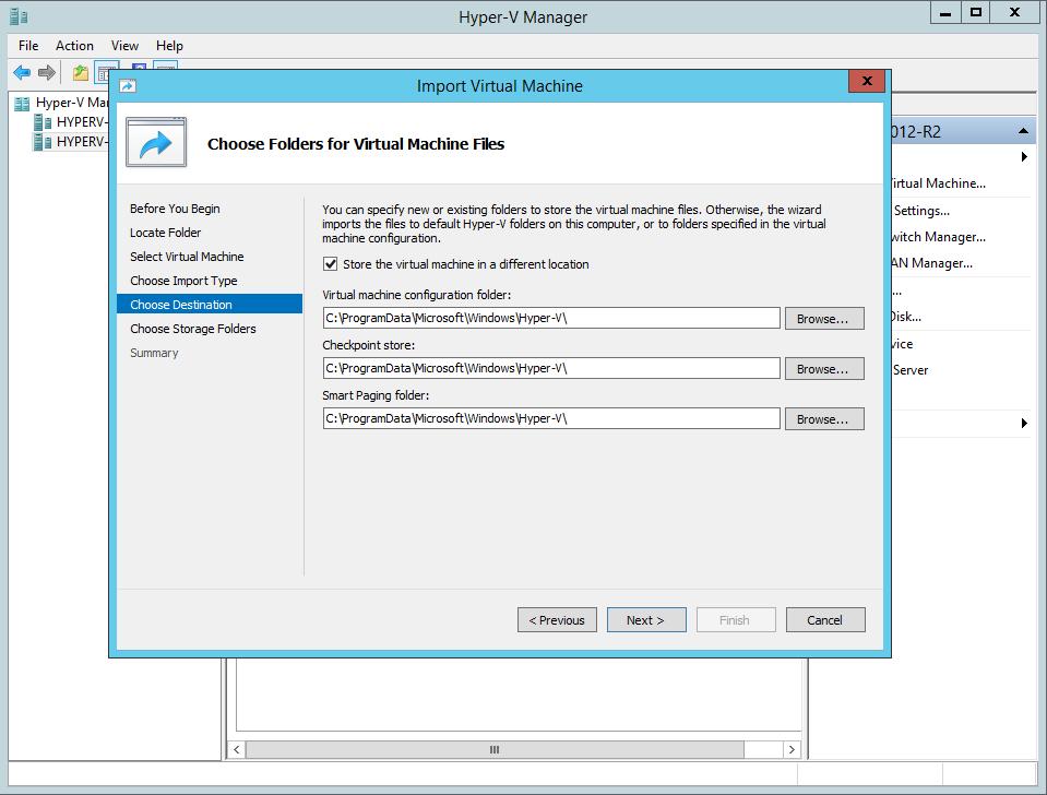Install the Virtual Machine on Hyper-V