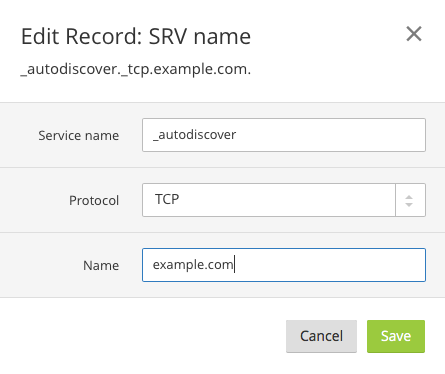 Configuring Autodiscover in Kerio Connect