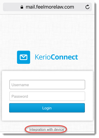 Synchronizing your iPhone with Kerio Connect