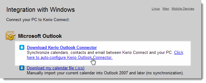 Creating profiles in MS Outlook