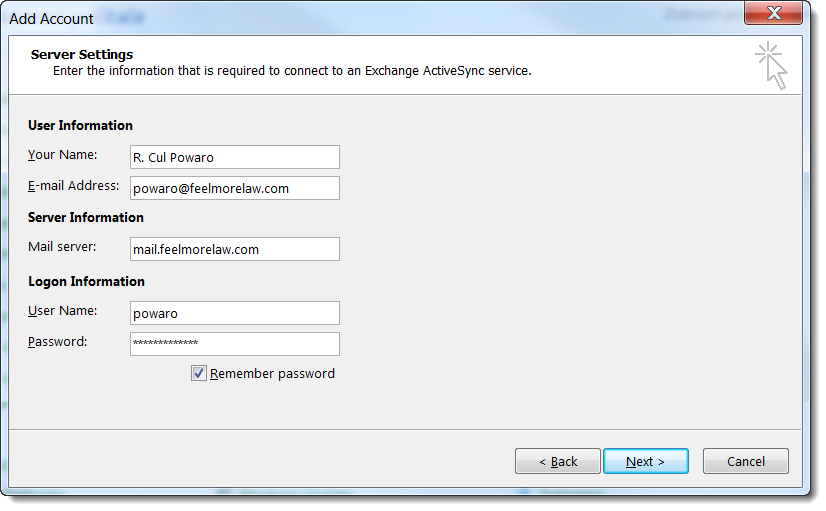 Creating Exchange ActiveSync a...