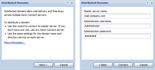 Distributed domains