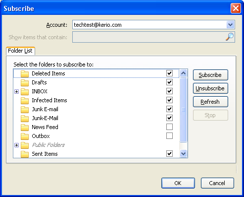 How to configure ThunderBird to function with Kerio Connect