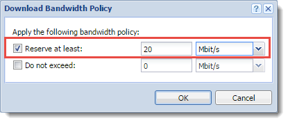 how to assign bandwidth to users