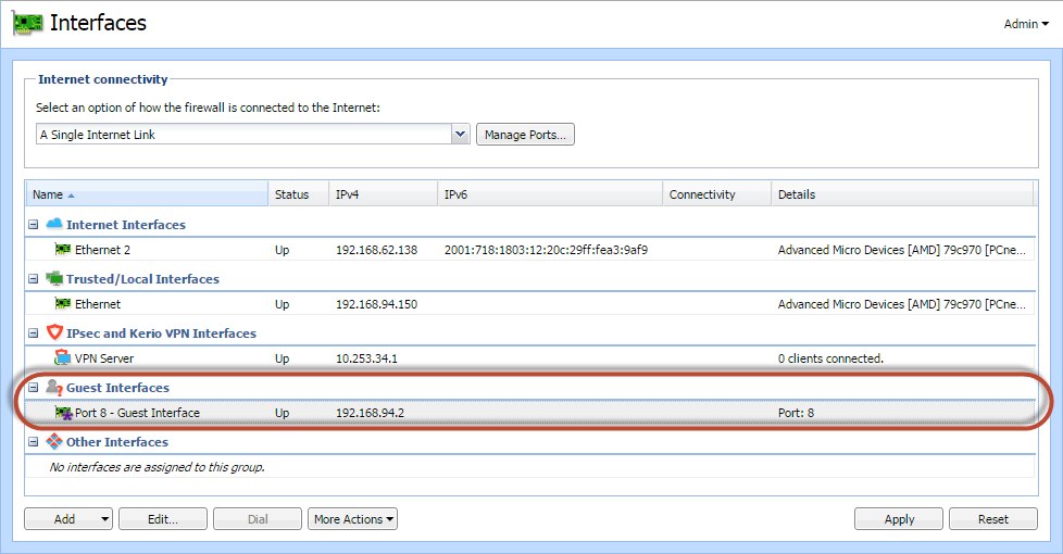 Configuring the guest network