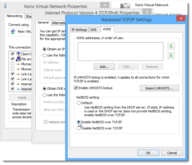 Configuring Service Discovery forwarding in the Kerio