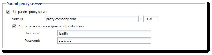 Configuring proxy server