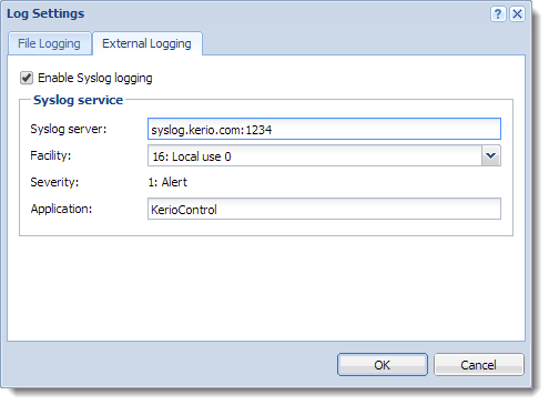 Using and configuring logs