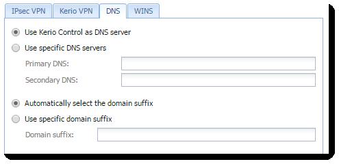 Configuring Kerio VPN Server