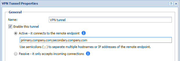 Configuring IPsec VPN tunnel