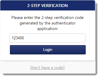 Configuring 2-step verification in MyKerio