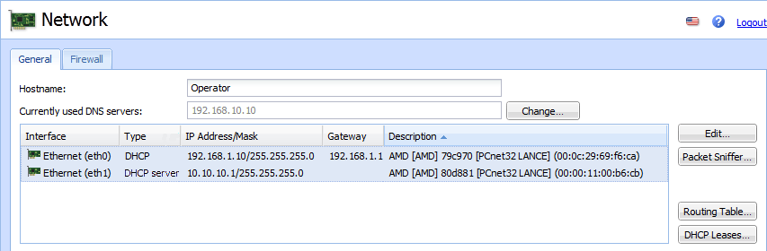 Configuring Built-in DHCP server in Kerio Operator