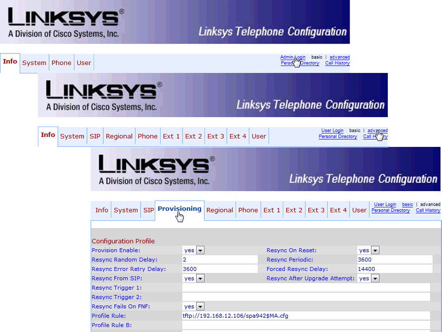 Linksys/Cisco SPA: Setting the TFTP address without using the DHCP