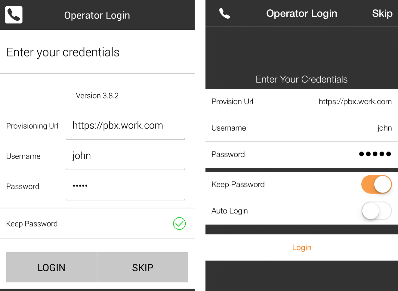 configuring kerio operator softphone for mobile devices login to kerio operator softphone on your apple iphone or android
