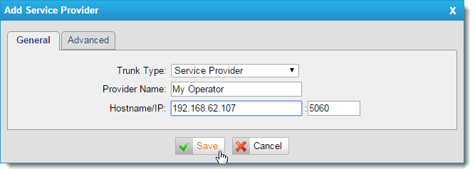 Configuring Kerio Operator and Yeastar NeoGate TE100 for