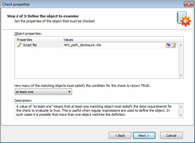 Creating custom scripts using VBscript