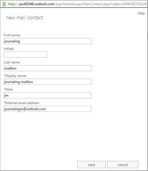step 1 setting up a 3rd party mailbox in microsoft office 365