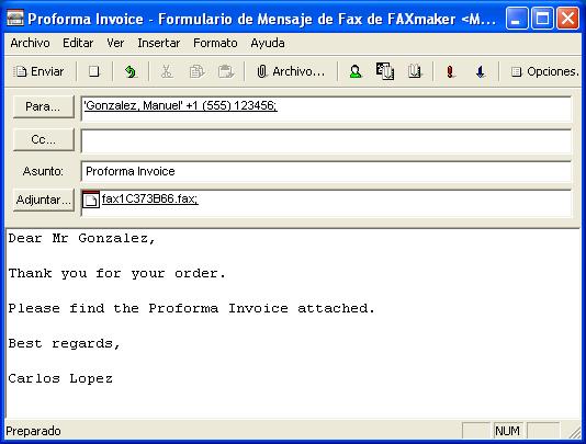 el cliente de gfi faxmaker